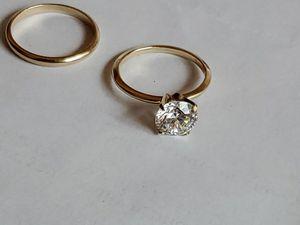 14K Gold CZ Bridal Ring Set Sz. 5.6. for Sale in Kirkland, WA