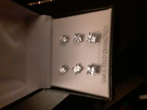 Silver and diamond earrings for Sale in Vancouver, WA