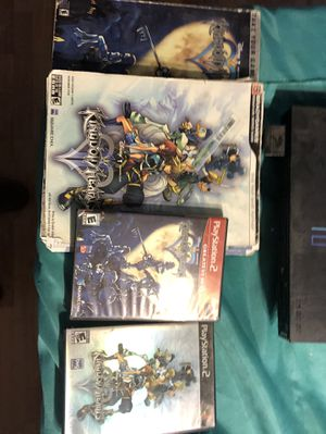 Kingdom hearts 1 & 2 with ps2 and memory card for Sale in Arlington, VA