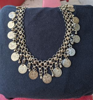 """30"""". Vintage Middle Eastern coin small loop necklace. Handmade. Amazing workmanship. for Sale in San Antonio, TX"""