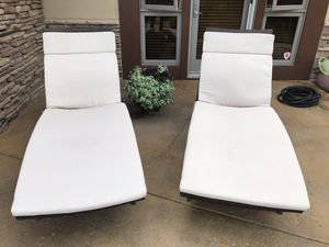 Chaise lounges (set of 2). Outdoor synthetic wicker. Rebello brand. $400 when new. Cushions were extra but will include them for free. for Sale in Ridgway, CO