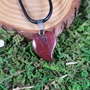 Red Jasper Crystal Heart Necklace for Sale in Woodbridge, CT