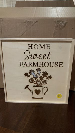 Home sweet farmhouse sign, crafting blank, light up for Sale in Lacey, WA