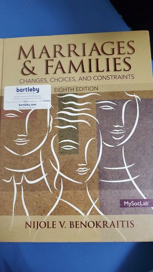 Marriages and families Eighth edition for Sale in Lincoln, NE