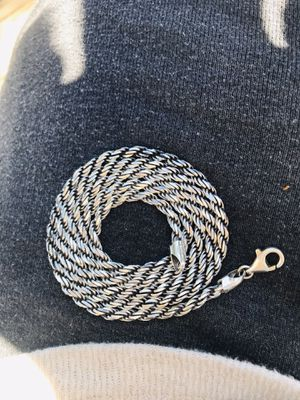 "18"" sterling silver rope chain for Sale in San Angelo, TX"