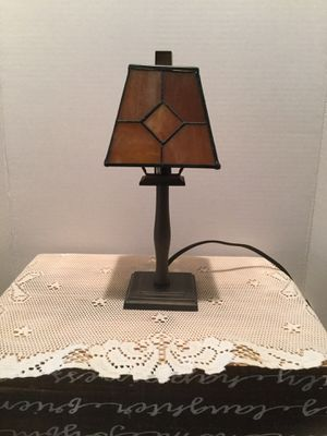 Adorable Stain Glass Side Lamp Perfect condition 12 inches Tall for Sale in Riverside, CA
