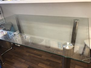 Dining / kitchen Glass table chrome legs for Sale in Los Angeles, CA