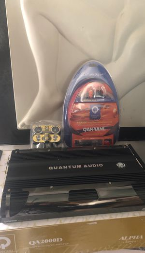 Quantum Audio 2000 watts car amp wire kit & tweeter for Sale in Chicago, IL