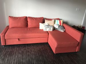 Colorful Couch with Sleeper Pullout for Sale in Baltimore, MD