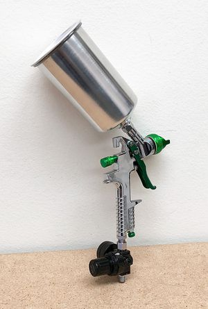 (NEW) $30 HVLP Spray Gun Auto Paint Gravity Feed w/ Gauge Metal Flake Primer Nozzle 2.5 mm for Sale in South El Monte, CA