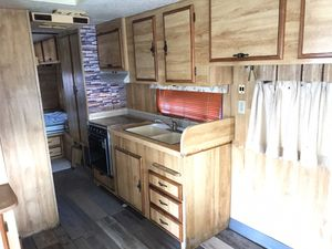 Fully Functional / Clean and Livable 25 ft ALFA Travel Trailer. Dual entrance. New floor!. Remodeled!. Delivery ok!. Available Now!. 😎🤙🏼 for Sale in Lakeside, CA