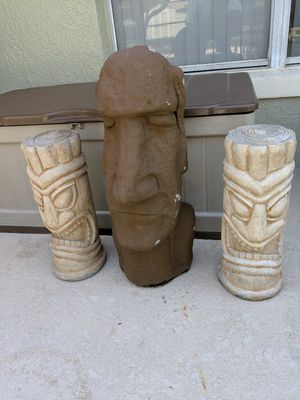 """Tiki and """"Moai"""" Easter Island Concrete Statues for Sale in Clermont, FL"""
