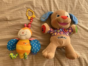 Baby toys. The dog by Fisher Price plays music, talks etc all works for Sale in Lorton, VA