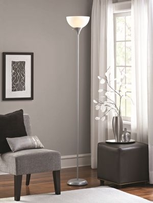 Tall Silver Free Standing Floor Lamp for Sale in Hemet, CA