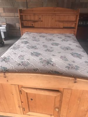 Bed frame with mattress for Sale in Stockton, CA