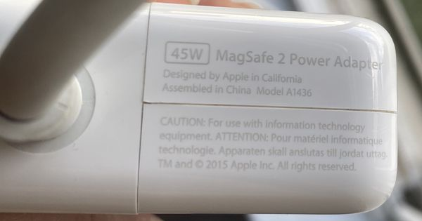 Apple Magsafe2 Power Adapter 45W with extension cords for MacBook Pro and MacBook Air