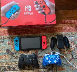 Nintendo switch + controllers for Sale in Williamsport, PA