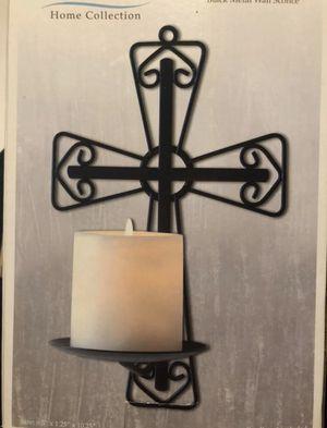 Black Cross Metal Candle Holder for Sale in Miramar, FL