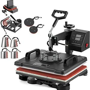 Super Deal Prk 5 in 1 Heat Press Machine Multifunctional Sublimation T Shirt Press Machine Hat/Mug/Plate/Cap/T-Shirt for Sale in Palmdale, CA