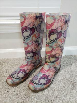 COACH Poppy Rain Boots - Multicolor - Womens Size 9 for Sale in Stonecrest, GA