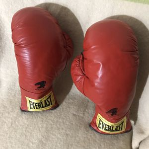 Vintage Leather Everlast Made in USA Boxing Gloves for Sale in Anchorage, AK