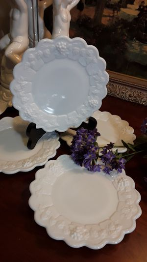 Vintage Milk Glass Plates for Sale in Greensboro, NC