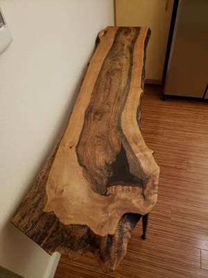Live edge slab console table for Sale in Portland, OR