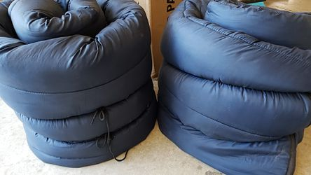 2 navy blue Coleman sleeping bags for Sale in Rialto,  CA