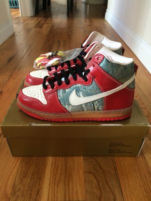 """Nike Dunk SB High """"Shoe Goo"""" Authentic 313171 012, size 9 for Sale in Denver, CO"""