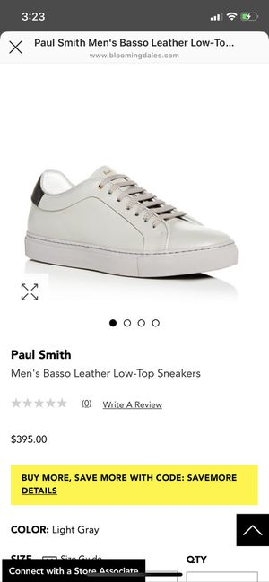 Brand New Men's Paul Smith Low Top Leather Sneakers for Sale in Los Angeles, CA
