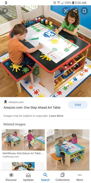 ****BRAND NEW***** NBO- One step ahead kids art and activity table with plastic drop Mat for Sale in Columbus, OH