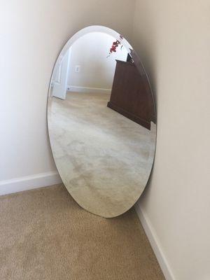 Flush Mount Frameless Oval Mirror for Sale in Waterford, VA