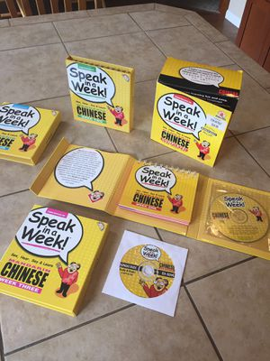 CHINESE MANDARIN SPEAK IN A WEEK for Sale in Vancouver, WA