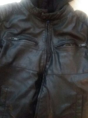 Apt 9 Leather jacket w/ zip out hoodie parts for Sale in Tampa, FL