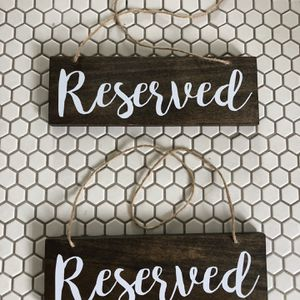 (2) Wedding Reserved Signs for Sale in Tampa, FL
