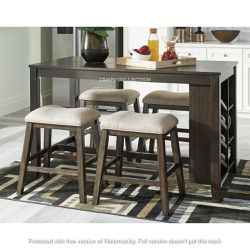 NEW, LIGHT BROWN 5 PC RECT COUNTER TABLE WITH STORAGE AND 4 STOOLS. for Sale in Chino,  CA