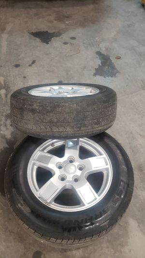 05 jeep grand cherokee 2 wheels and tires for Sale in Dallas, TX