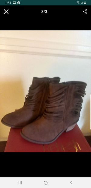 New Suede Fringe Ankle Boots for Sale in Lincolnton, NC