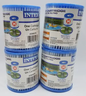 Intex 4 Type H Easy Set Filter Pump Cartridge Replacement Swimming Pool 29007E Lot of 4 for Sale in Burbank, IL
