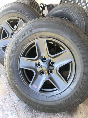 Jeep 4x4 wheels tires 17 inch for Sale in Huntington Park, CA