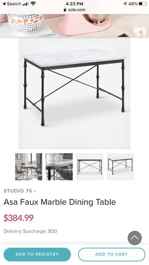 Marble Dining Kitchen Table — new in box for Sale in Los Angeles, CA