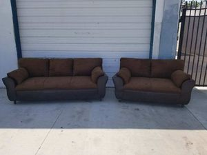 NEW DARK BROWN MICROFIBER SECTIONAL COUCHES for Sale in Gardena, CA