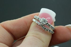 Women's 14k White Gold & Diamond Engagement Ring & Wedding Band Set 5.3g #31131 for Sale in Lawrence, NY