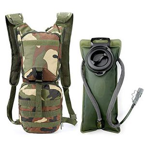 •Camo Doubmall Tactical Hydration Water Pack Hydration Backpack with 3L Water Bladder for Hunting Climbing Running and Hiking for Sale in Alhambra, CA