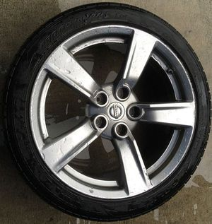 """NISSAN 370Z COUPE 18"""" INCH FRONT WHEEL RIM W/TIRE (ONLY 1) for Sale in Fort Lauderdale, FL"""