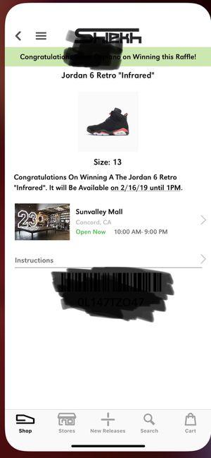 Nike Air Jordan 6 Retro Infrared- Size 13 for Sale in Martinez, CA