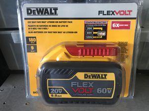 DEWALT FLEXVOLT 20-Volt /60-Volt MAX Lithium-Ion 9.0 Ah Battery Pack for Sale in Fremont, CA