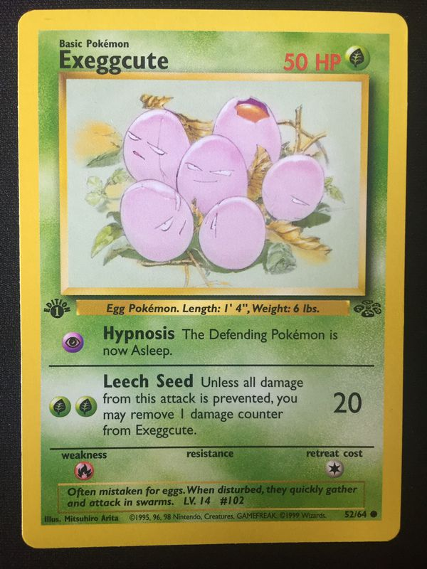 (Pokemon Cards) (1st Edition) Exeggcute