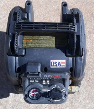 DeWalt 2.5 gallon brushless air compressor tool only for Sale in Greenville, SC