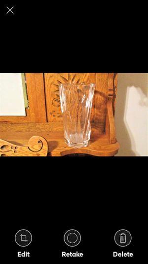 Vintage Hand Cut Clear Crystal Flower Vase for Sale in Lynchburg, VA